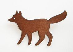 enna wooden fox brooch #fox