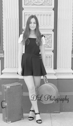 Love love black and white: it looks like someone wants to go to Paris after graduation! Senior girl photoshoot Liking Someone, Senior Girls, Graduation, Photoshoot, Paris, Black And White, Kids, Photography, Dresses