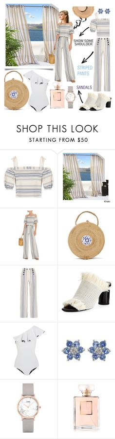 """ready to cruise ⛴🛳🚢🏝"" by anoo17k ❤ liked on Polyvore featuring Lemlem, Proenza Schouler, Lisa Marie Fernandez, CLUSE and Chanel"