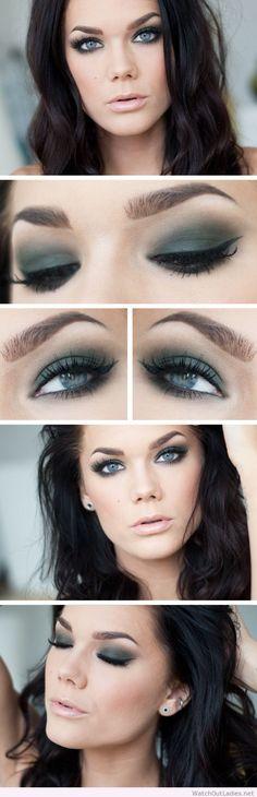 Linda Hallberg green smokey eye makeup