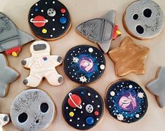 Second Birthday Ideas, 2nd Birthday, Sunshine Cookies, Space Baby Shower, Cookie Sticks, Space Party, Space Theme, Best Cookies Ever, Buttercream Filling