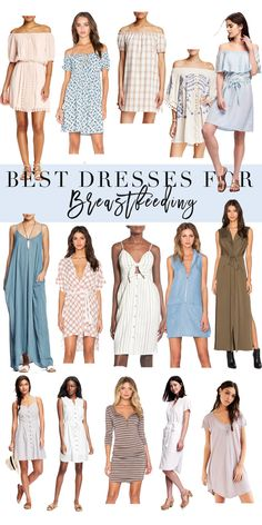 The best dresses for breastfeeding all in one post! I found not only the most adorable ones but also the most affordable!