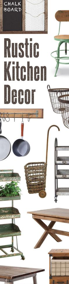 Rustic Kitchen Décor | Up to 60% Off at dotandbo.com
