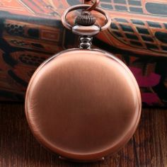 New Arrival Sample Rose Golden Bronze Pocket Watch Concise Fob Watch With Chain Free Postage Gift Or Rose, Pocket Watch, Bronze, Watches, Gifts, Accessories, Gift, Fresh, Wristwatches