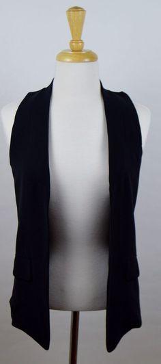 Derek Lam Women's XS Solid Black Polyester Vest NWT #DerekLam