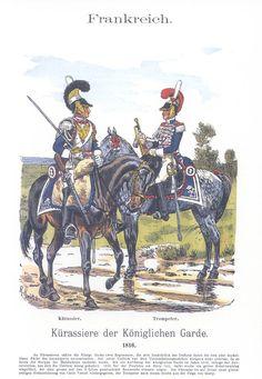 Band XVII #25.- Frankreich. Kürassiere der Königlichen Garde 1816.