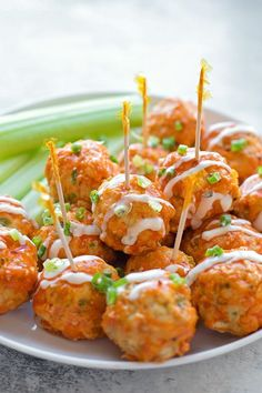 If you love buffalo wings, you're going to love these easy and mess-free buffalo chicken meatballs. They're a whole lot healthier than the traditional appetizer!
