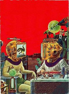 PREDICTION:  By 2050 there will be a thriving subculture of post-humans who have become television stations.