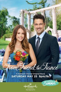 "Its a Wonderful Movie - Your Guide to Family and Christmas Movies on TV: From Friend to Fiancé - a Hallmark Channel ""Countdown to Summer"" Movie starring Jocelyn Hudon and Ryan Paevey Halmark Movies, Romance Movies, Comedy Movies, Movies To Watch, Good Movies, Movie Tv, Movies 2019, Movie Cast, Netflix Movies"