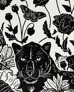 60/100 - Detail of my Black Leopard print-- this was an addendum, of sorts, to my teaching / printmaking project, Thailand Burma Flora…