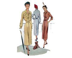 1950er Jahre Kleid Muster Langarm Slim Tag von PrettyPatternShop