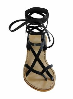 katra lace up flat sandals
