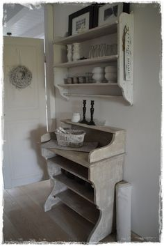 shabby chic--have cabinet like the one on top that I found at Canton