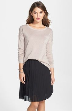 Caslon® Shimmer Split Back High/Low Sweater (Regular & Petite) available at #Nordstrom