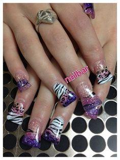 Sparkle Wild by nailbarLounge - Nail Art Gallery nailartgallery.nailsmag.com by Nails Magazine www.nailsmag.com #nailart