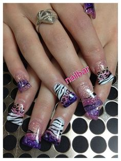 Sparkle Wild by nailbarLounge - Nail Art Gallery nailartgallery.nailsmag.com by Nails Magazine www.nailsmag.com #nailart