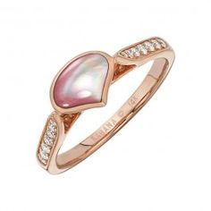 Kabana - Pink Mother of Pearl  Diamond Ring in 14k Rose Gold (.17 ctw)