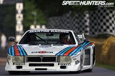 The 1980 Lancia Beta Montecarlo Group 5 racecar, with a Martini Racing livery. At The Goodwood Festival of Speed. The Montecarlo Gr. 5 was the car to bring Porsche's domination to size in the Gr. 5 league.