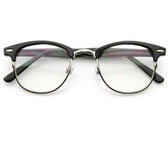 Vintage Optical RX Clear Lens Clubmaster Wayfarer Glasses 2946 49mm (37 BRL) ❤ liked on Polyvore featuring accessories, eyewear, eyeglasses, glasses, sunglasses, fillers, vintage eye glasses, tortoise wayfarer, clear wayfarer glasses and tortoise shell wayfarer