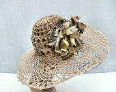 Summer hat... Wedding hat... Church hat... Unique hat... Derby hat.... Crochet hat....Flower hat... Millinery....