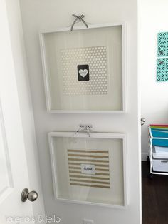 5 Minute Graphic Wall Art using Project Life Cards! Such a cute way to display your favorites!