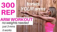 ARM WORKOUT - TONE AND SCULPT YOUR ARMS WITH THIS 300 REP WORKOUT - NO WEIGHTS NEEDED AND IT TAKES LESS THAN 3 MINUTES - IT WILL SHAPE YOUR SHOULDERS, GET RID OF BINGO WINGS, MELT OFF ARM FAT AND GET YOU YOUR DREAM ARMS, YOU CAN DO THIS WORKOUT SEATED OR STANDING. LUCY xx