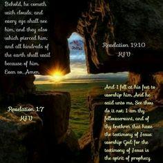Revelation 1:7 and 19:10