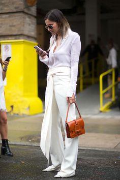 Danielle Bernstein carrying a Devi Kroell bag - HarpersBAZAAR.com