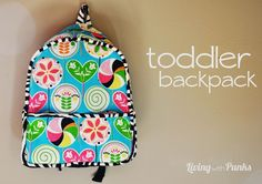 DIY Toddler Backpack using Made By Rae pattern. Doesn't necessarily need to be in this pattern though. Sewing Toys, Baby Sewing, Sewing Crafts, Sewing Projects, Sewing Ideas, Diy Projects, Sewing For Kids, Diy For Kids, Toddler Backpack