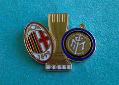 Distintivo spilla pin badge F.C. INTER - MILAN FINALE SUPERCOPPA ITALIANA 2011