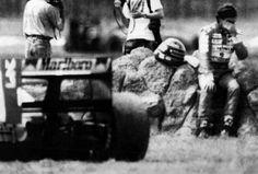 Em 1992, já na segunda prova, no México, uma amostra de que o ano não seria fácil: se machucou em acidente no treino de sexta-feira e quase não correu por causa das dores. Mas foi para a prova, onde sofreu uma quebra de câmbio