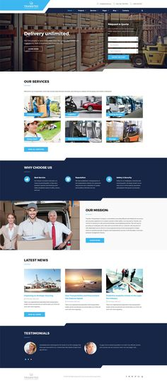 #Transportation & #Logistics #WordPress #Theme.Logistic Company WordPress Theme with moderate blue and white color scheme and unlimited opportunities to express your brand's vision is all you need to spread a word about your transportation business like a pro. Creative loading widget will add on to the positive image of your company on the web, it will make your website stand out among the crowd. Built-in live search bar will give each and everyone an opportunity to soar on your site and…