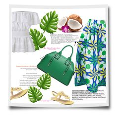 """""""Green"""" by stellina-from-the-italian-glam ❤ liked on Polyvore featuring maxiskirt and summerstyle"""