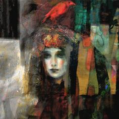 "Saatchi Online Artist: Suhair Sibai; Mixed Media, 2012, Painting ""Red Bird!"""