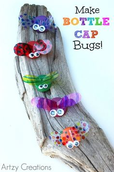Diy bottle cap bugs by artzy creations. diy bottle cap bugs by artzy creations art and craft videos Summer Crafts For Kids, Crafts For Boys, Summer Activities For Kids, Summer Kids, Projects For Kids, Project Ideas, Art Projects, Welding Projects, Recycled Crafts For Kids