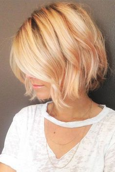 Short Stacked Bob for Fine Hair