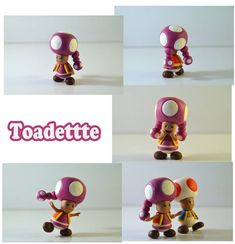 Weekly Sculpture: Toadette by ClayPita on DeviantArt Paper Mario, May 7th, Toad, Sculpting, Nintendo, Colours, Deviantart, Gallery, Artist