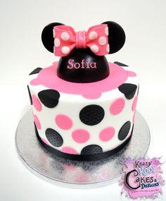 Minnie Mouse chapeau Cake Topper par KrazyKoolCakeDesigns sur Etsy