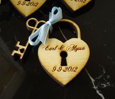 160 Heart and Key Wedding Favors by EtchedinTimeLLC on Etsy
