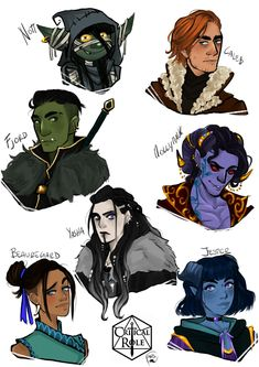 Alexiel April ‏ @AlexielApril 15h15 hours ago my first fanarts of CR were a couple and the headshots of the VM,i already draw a couple so this means headshots of my new babies!!! #CriticalRole #criticalrolefanart