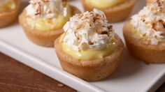 Coconut Cream Cups  I think I'd rather try this with lemon pie filling instead.  :D