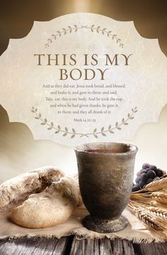 Church Bulletin - Communion - This Is My Body (Pack of Communion Scripture, Communion Prayer, First Holy Communion, Scripture Cards, Bible Scriptures, Bible Quotes, Sunday Bible Verse, Lords Supper, Jesus Christ Images