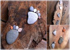 Steinfüße Steine Holz Füße
