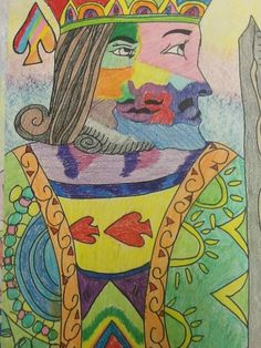 Less Talk, More Art: A middle school art ed blog: Picasso playing cards, 7th grade