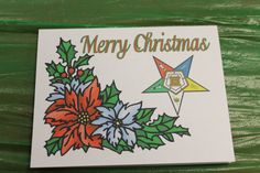 OES Poinsettia Christmas Note Card by OlsenEnterprises on Etsy, $10.00