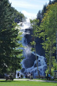 Ouiatchouan Falls outside Val-Jalbert ghost town in Quebec Canada Cruise, Canada Travel, Lac Saint Jean, Montreal, Solo Travel, Rv Travel, Vacation Travel, Travel Destinations, Rio