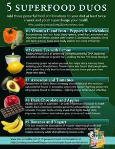 Five Superfood Duos! Bananas and Yogurt for muscle strengthening recovery! Eat after a workout! Great Nutrition Let your food be your medicine Healthy Tips, Healthy Choices, Healthy Snacks, Healthy Recipes, Happy Healthy, Healthy Dinners, Stay Healthy, Eating Healthy, Health And Nutrition