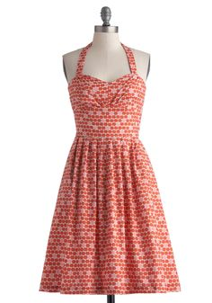 Fruit Cart Dress. Show the morning your sweet side in this wholesome halter dress by Bea  Dot - a ModCloth exclusive!  #modcloth