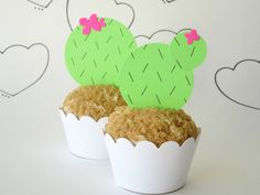 Set of 12 DIY Desert Cactus Cupcake Toppers Go by DesignSprinkle