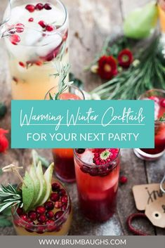 Hosting a Christmas or New Year's party? Why not switch it up and try a specialty cocktail on your crowd! Check out our new blog for easy winter cocktails.
